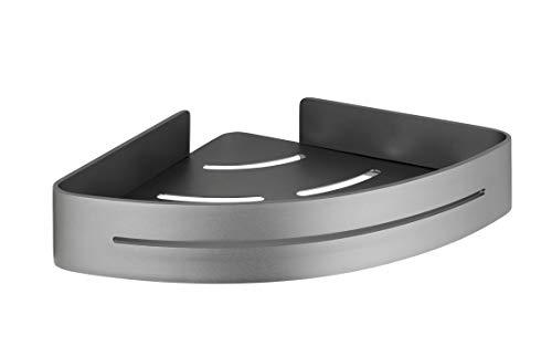 WENKO Wandablage Eckablage Montella - Ablage zum Schrauben, rostfrei, Aluminium, anthrazit