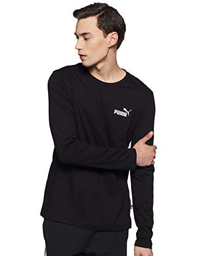 PUMA Herren ESS No.1 Logo LS Tee T-Shirt, Cotton Black, M