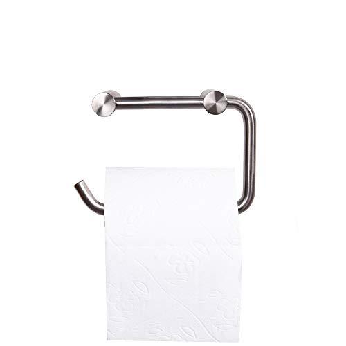 Edelstahl Toilettenpapierhalter WC-Rollenhalter matt gebürstet Klopapierhalter Rollenhalter Badzubehör Badaccessoire