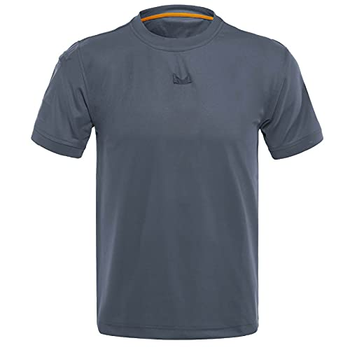 Tpingfe Mens Short Sleeve Summer Shirt Casual Tee Loose Basic Athletic Top Breathable Wicking Quick Dry Tank Plus Size Gray