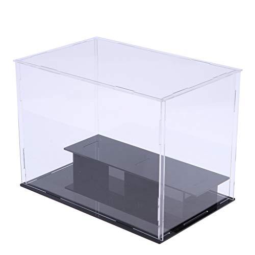 dailymall Caja de Acrílico Transparente con Pantalla de 2 Capas, Modelo de Piso, Vitrina
