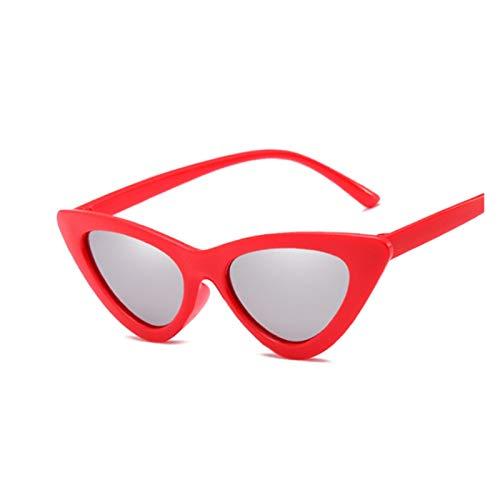 DIOXQEN Diseño clásico Sexy Gato Ojo Gafas de Sol Mujeres Marca de diseñador Espejo Negro triángulo Gafas de Sol Lentes Hembra Pantallas para Damas Gafas UV400 para Uso en Exteriores