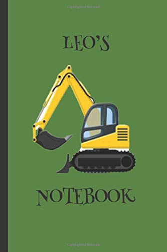 Leo's  Notebook: Boys Gifts : Big Yellow Digger Journal