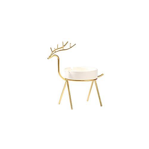 ZZYJYALG Cenicero portátil Lavable Art + Material de cerámica Adecuado para Mesa de Almacenamiento de Escritorio Baño de Oficina y decoración del hogar