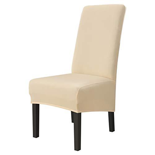 Zxxin-Fundas Sillas Cubiertas de Silla de Comedor de Color sólido Spandex, Cocina Sucia de Silla de Silla, para Cubiertas de sillas de hogar, (Color : Cream Color)
