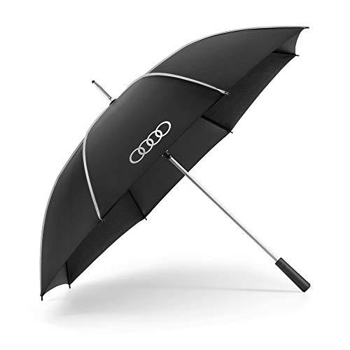 Audi 3122000100 Regenschirm Stockschirm Automatik Schirm, schwarz