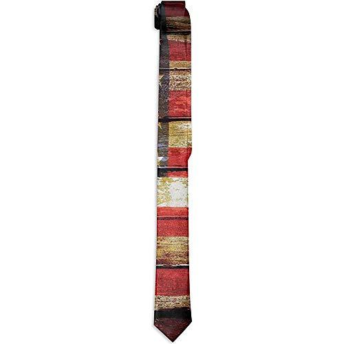 Corbata floral impresa de los hombres, nosotros simbolismo sobre viejos tonos oxidados...