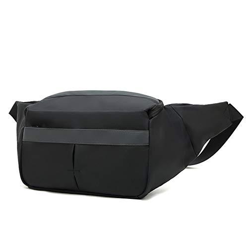 GAOHONGMEI Men High capacity Horizontal Version Chest Bag Casual CrossBody Shoulder Daypack Waterproof Wear-resistant Belt bag Backpack for Outdoor Business Sports Hiking-black