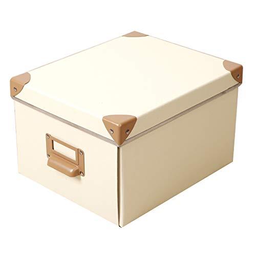 LHY SAVE Cajas De Cartón con Tapa Y Metal Asa -Fácil De Ensamblar, Impermeable Cajas almacenaje para Regalo, Almacenamiento En El...