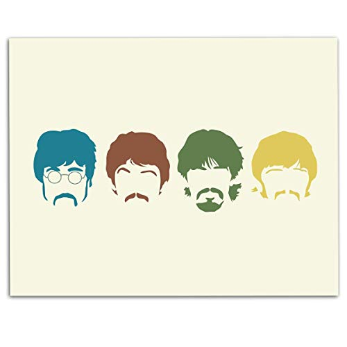 The Beatles Band- Silhouette Poster Print- 10 x 8
