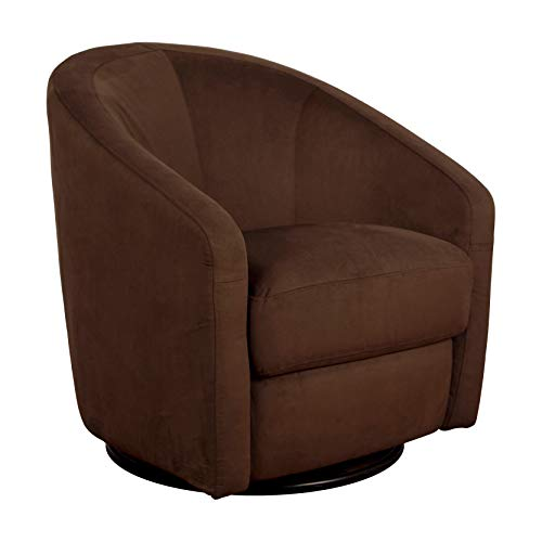 Product Image of the Babyletto Madison Swivel Glider in Mocha Microsuede, Greenguard Gold Certified