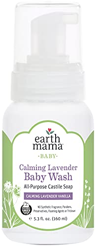 Earth Mama Angel Baby 160ml Calming Lavender Shampoo and Body Wash