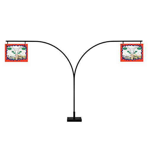 Curved Gondola Shelf Double Side Magnetic Store Aisle Sign Holder, Department Walkway Section Marker & Labeler for Store Shelving, 10 Pack