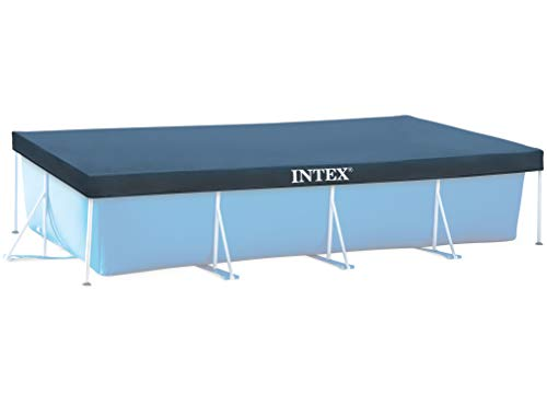 INTEX 28039 Abdeckplane Pool Intex 450 x 200 cm Sommer/Winter mit Löcher Wasserablauf