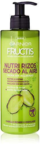 Garnier Fructis Nutri Rizos Secado al Aire Crema Sin Aclarado para Pelo Rizado u Ondulado – 400 ml