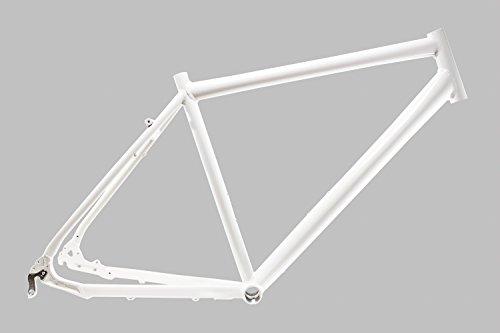 """28\"""" Zoll Alu Fahrrad Rahmen Herren Trekking Disc Scheibenbremse Rh 52cm weiss"""