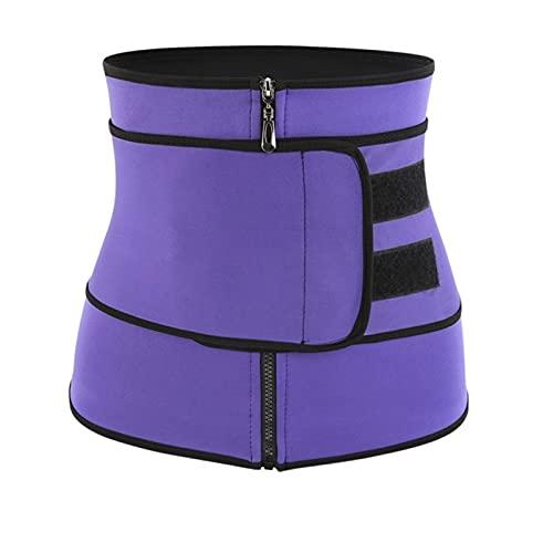 BBNB Cinturón postparto, cinturón adelgazante para mujer, abdominales y cintura, transpirable, ropa interior esculpida, ropa interior (color: morado, talla de maternidad: XXL)