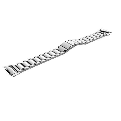 WE-WHLL Reloj de Pulsera de Acero Inoxidable con Correa para Samsung Gear Fit 2, SM-R360 Smartwatch Correa de muñeca de Repuesto para Samsung Gear fit2