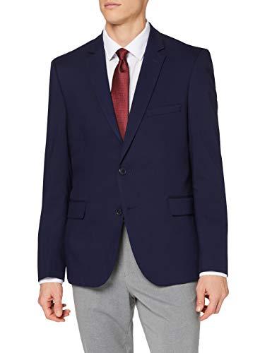 Amazon-Marke: find. Herren Blazer Stretch Slim Fit, Blau (Navy Navy), 58R, Label: 48R