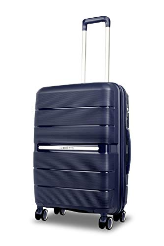 Vienna Durable Hard Shell Luggage (Blue) 24 Inch Expandable Medium Spinner Suitcase, 61 cm, 4 Wheels, M Suitcase with 5 Year Warranty