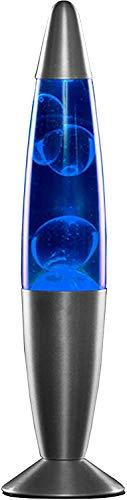 MODEZVOUS Lavalampe 35 cm, Magma-Lampe, Lavalampe, Lavalampe, 25 Watt Glühbirne im Lieferumfang enthalten, Kabel mit Schalter, Geschenkidee Weihnachten mit Leuchtmittel - Blau - 8,5 x 34 cm