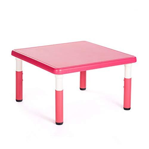 Reeamy-Home Table pour Enfants Enfants Tableau Plastique Tableau d'activité for 1-5 Ans, Tout-Petit Table, Meubles for Enfants Toy Table, Option Multi-Couleurs Bureau d'étude des Enfants