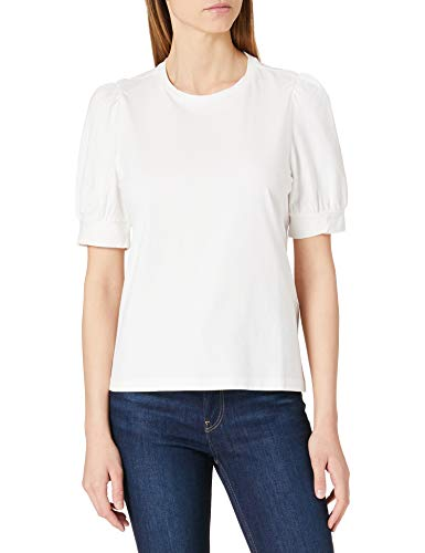 Vero Moda Vmkerry 2/4 O-Neck Top VMA Noos Camiseta, Blanco como La Nieve, L para Mujer