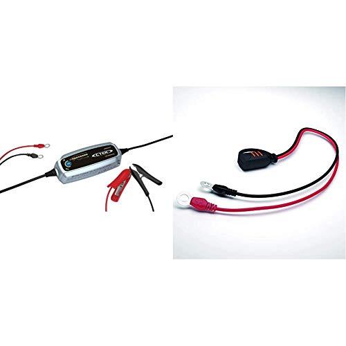 CTEK Lithium XS Multi-Funktions Batterieladegerät Mit 8-Stufen Ladeprogramm, 12V 5 Amp & Comfort Connect Direct Connect Adapter (M8 Muttern), Ideal Für Schwer Erreichbare Batterien, 40cm Kabellänge