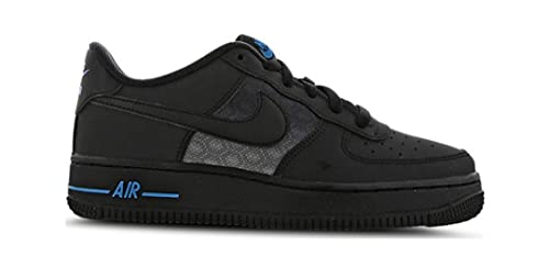 Nike Air Force 1 '07 LV8 GS, DD3231 001, Black/Black-Laser Blue, 38.5 EU
