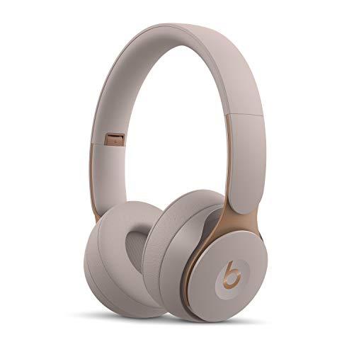 BeatsSoloPro con cancelación de ruido - Auriculares supraaurales inalámbricos - Chip Apple H1, Bluetooth de Clase1, 22horas de sonido ininterrumpido - Gris