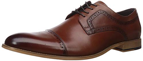 STACY ADAMS Men's Dickinson Cap Toe Oxford, Cognac, 10 W US