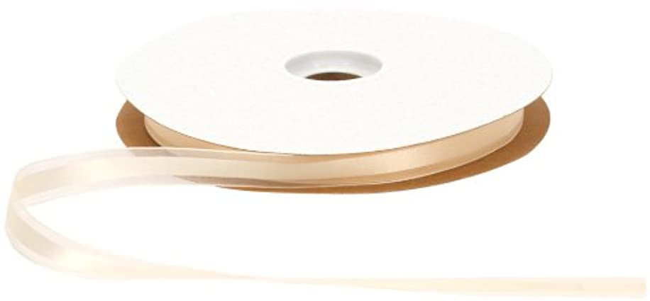 Offray Garbo Satin and Sheer Craft Ribbon, 5/8-Inch Wide by 100-Yard Spool, Ivory