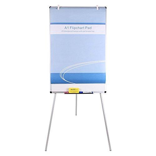 "VIZ-PRO Light Weight Porcelain Magnetic Tripod Whiteboard/Flipchart Easel, 24"" W x 36"" L"
