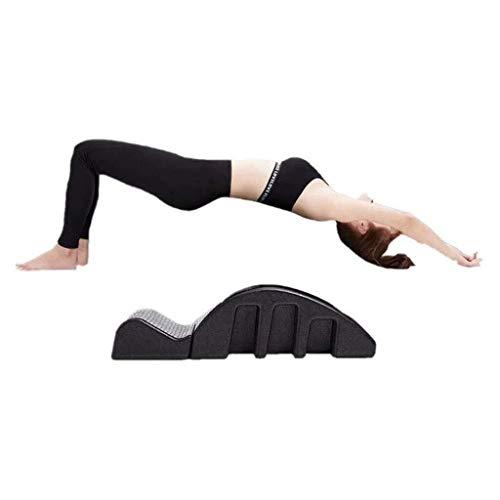 N Pilates Spine Pula Spine Corrector Pilates Masaje multifunción Cama de Masaje Cama de Pilates for Mejorar la Actividad física Pilates Spine Corrector-Negro Lumbar masajeador