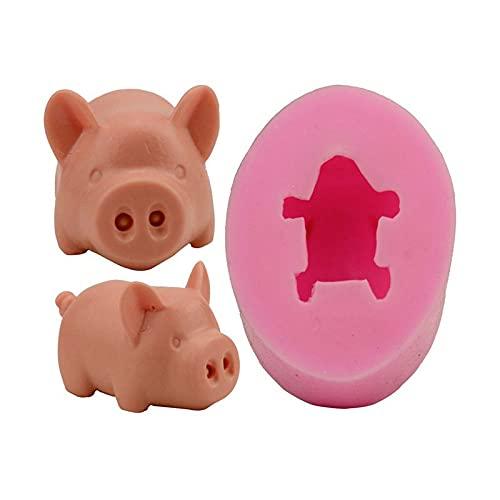 Molde de cerdo 3D DIY Cupcake Candy Chocolate Molde para herramientas de hornear Arcilla Moldes Decoración de Tortas Herramientas