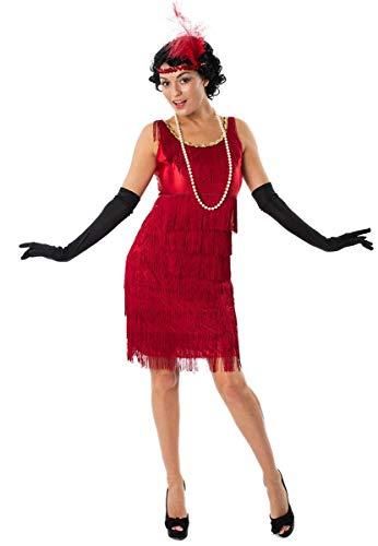 ORION COSTUMES Costume de déguisement rouge galonné de garçonne des années 20 pour femmes