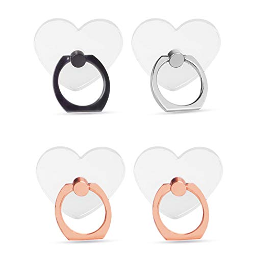 Phone Ring Holder Transparent Ring Holder for Cell Phone 360 Degree Rotation 180 °Flip Grip Finger Ring Stand Kickstand Compatible Most Mobile Phones