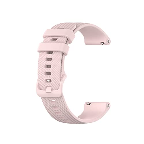 HENHEN Jun store - Correa de silicona de 22 mm, compatible con Xiaomi Mi Watch Color de repuesto de la pulsera transpirable para accesorios de reloj (color de la correa: rosa rosa)