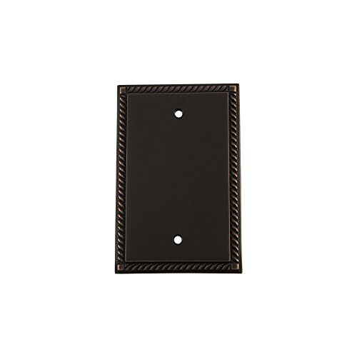 Nostalgic Warehouse 719685 Placa de interruptor de cuerda con cubierta en blanco, bronce atemporal
