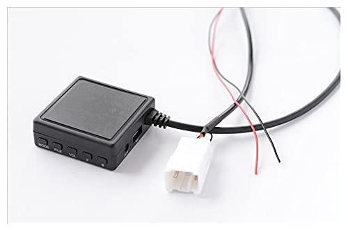 Coche Bluetooth 5.0 AUX USB Adaptador de música inalámbrico DE ALTA FIDELIDAD Adaptador de micrófono de cable de audio Ajuste para ajuste para FORD FORD 5 PIN Coche de radio estéreo AUXILIAR