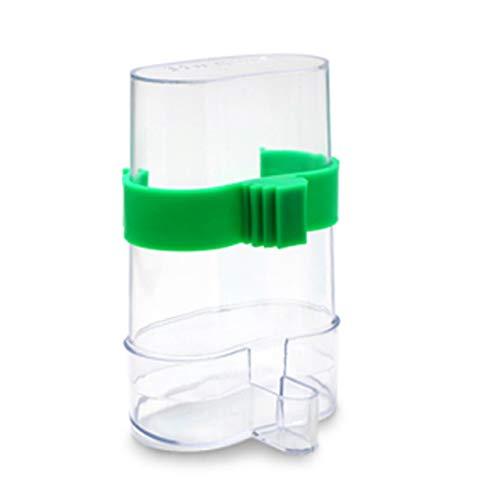 Alimentador de alimento para Agua de Aves de 220 ml Dispositivo dispensador de Bebida de alimentación automática Parrot Canary (Transparente) ESjasnyfall