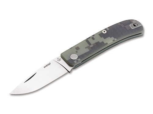 Manly Wasp Digicamo Taschenmesser aus CPM-S-90V und glasfaserverstärktem Kunststoff in der Farbe Grün - 17,60 cm
