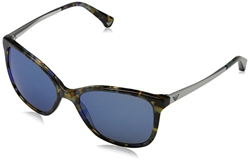 Emporio Armani Damen 0ea4025 Sonnenbrille, Braun (Havana Spot Blue), 55