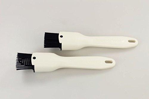 TUPPERWARE Backen Silikon-Pinsel (2) weiss Backpinsel Backhelfer Pinsel P 20917