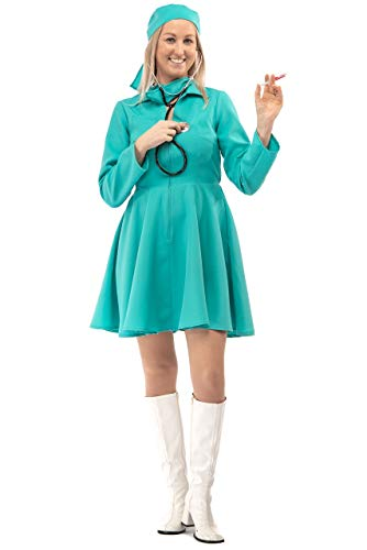 Original Replicas Komplettes Chirurgen Kostüm mit Mundschutz und Kopfbedeckung Krankenhaus Doktor Krankenschwester L - XS bis 3XL