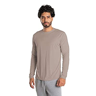 Vapor Apparel Men's UPF 50+ UV Sun Protection Long Sleeve Performance T-Shirt for Sports and Outdoor Lifestyle, Large, Athletic Grey