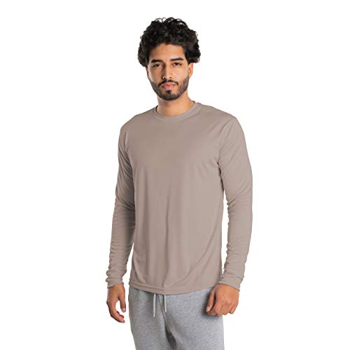 Vapor Apparel Herren Atmungsaktives UPF 50+ UV Sonnenschutz Langarm Funktions T-Shirt XX-L Athletic Grau
