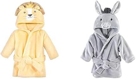 Hudson Baby store Boy Plush Animal Face 2-Pack Lion Don King outlet Bathrobe