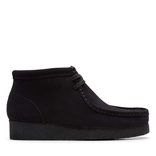 Clarks Wallabee Boot, Botas Chukka para Mujer, Negro (Black SDE Black SDE), 41 EU