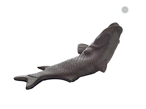 Vintage Cast Iron Fish Door Stop Wedge by Comfify   Lovely Decorative Finish, Padded Anti-Scratch Felt Bottom Protects Floors   in Rust Brown (Fish Door Stop CA-1507-16)